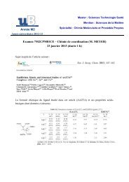 janv 13 - Chimie Moléculaire et Procédés Propres