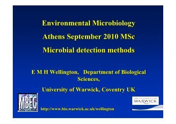 Environmental Microbiology Athens September 2010 MSc Microbial ...