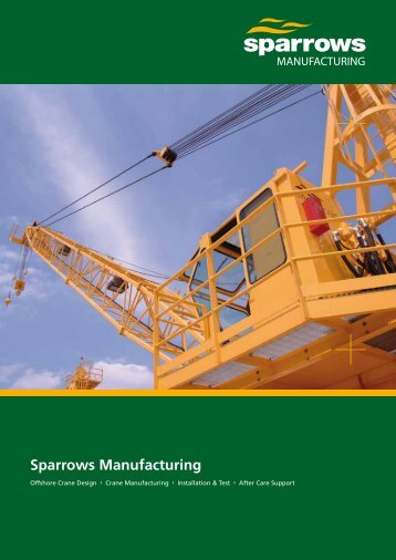 Sparrows Manufacturing 12 page brochure (UK version)