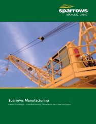 Sparrows Manufacturing 12 page brochure (US version)