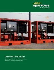 Sparrows Fluid Power 8 page brochure (US version)