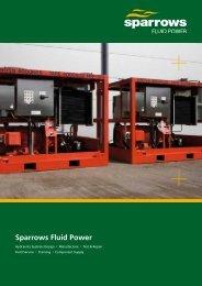 Sparrows Fluid Power 8 page brochure (UK version)