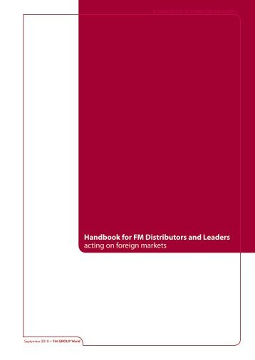 Handbook for FM Distributors and Leaders acting ... - fm cosmetics uk