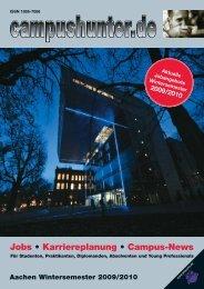 Ausgabe Aachen - Wintersemester 2009 - campushunter.de