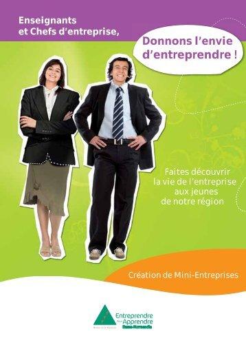 Brochure Â« Donnons l'envie d'entreprendre