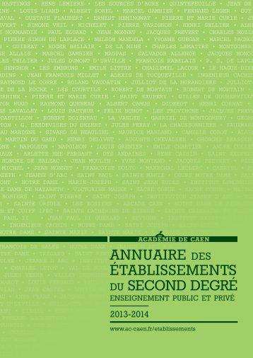 Annuaire des établissements - Académie de caen