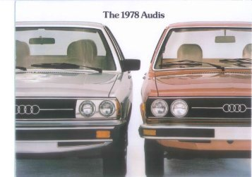 Page 1 Page 2 AUDI 5000- I978 SPECIFICATIONS AUDI FOX 1978 ...