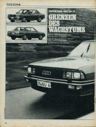 c/o Auto Zeitung 4/1980 - Audi 100