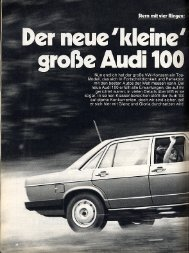 c/o hobby 17/1976 - Audi 100