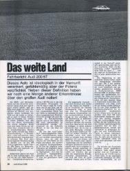 Fahrbericht Audi 200 5T - Audi 100
