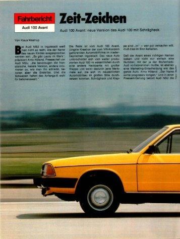 Fahrbericht Audi 100 Avant