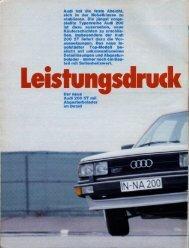 c/o Gute Fahrt 10/1979 - Audi 100