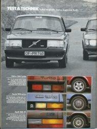 Volvo 244 Turbo - Audi 100