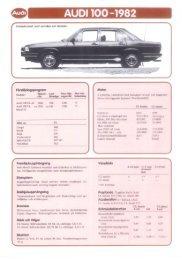 Försälinlngsprogmm Mofor - Audi 100