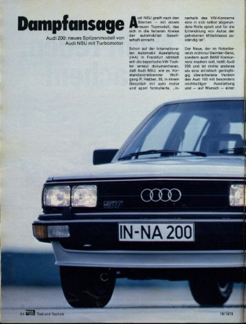 umpfunsuge - Audi 100