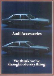 We think we've - Audi 100