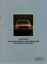 of automotive technology. - Audi 100