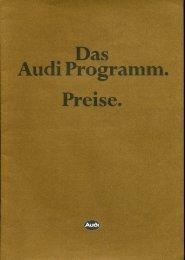 Das Audi Programm. Preise. Stand 17.09.1981 - Audi 100