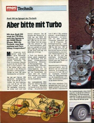 Aber bitte mit 'l'lltllt) - Audi 100