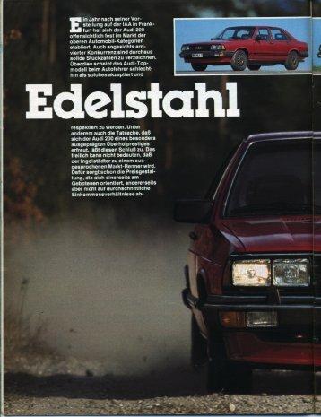 Test Audi 200 Turbo - Audi 100