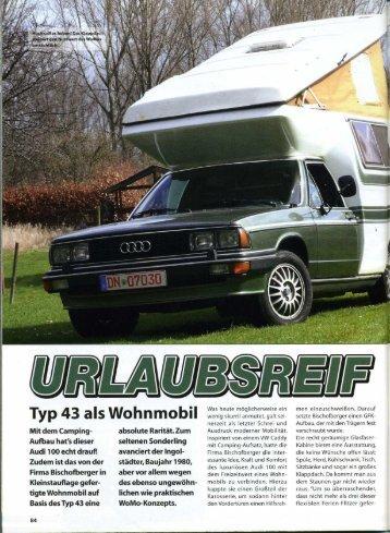 men einzuschweißen. Darauf - Audi 100