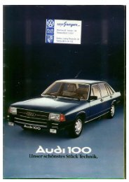 Audi 100. Unser schönstes Stück Technik.