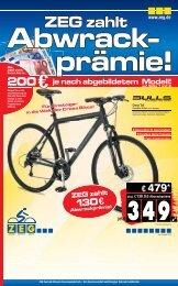 ZEG zahlt 130€ Abwrackprämie! - Fahrradlagerverkauf.com