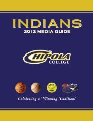 Entire Media Guide (6MB - *.PDF) - Chipola College