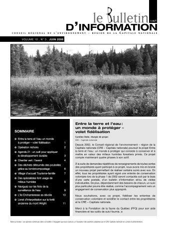 le Bulletin - Centre de l'environnement