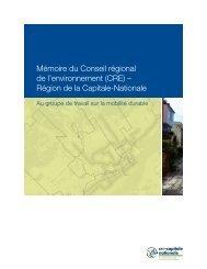 Mémoire du Conseil régional de l'environnement (CRE) – Région ...