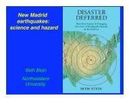 New Madrid earthquakes - Northwestern University