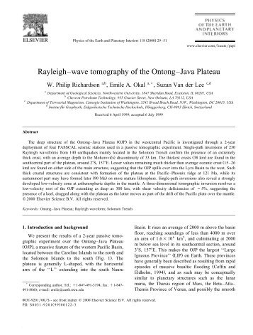 Richardson et al. - Department of Earth and Planetary Sciences ...
