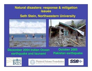 Natural disasters - Northwestern University