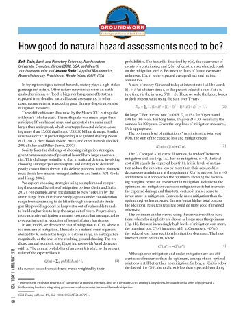 How good do natural hazard assessments need to be? - Geological ...