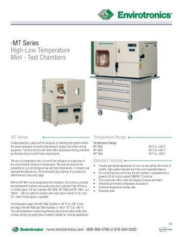 MT Series High-Low Temperature Mini - Test ... - Envirotronics