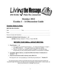 October Discussion Guide 2012 - Mount Olivet Lutheran Church