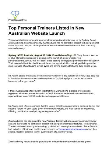 top personal trainers listed in new Search personal trainer jobs with company reviews & ratings 16,845 open jobs for  best buy personal trainer  new on glassdoor 25 best cities for jobs .