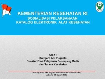 Materi Konsultasi Pra Persyaratan E-Catalogue Alkes (BUK)