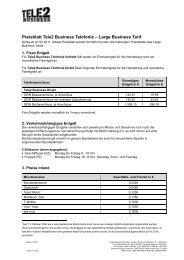 Leistungsbeschreibung Business Telefonie - Tele2