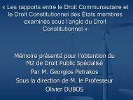 Â« Les rapports entre le Droit Communautaire et le Droit ...
