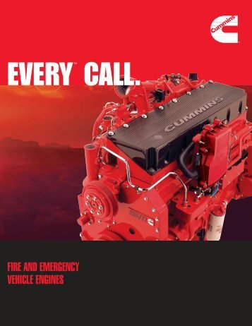 Cummins Engines for Fire Trucks and Rescue ... - Cummins Onan