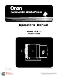 Operator's Manual - Cummins Onan