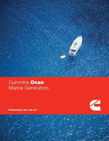 Marine Generators - Cummins Onan