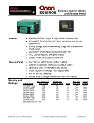 Equinox Inverter Series and Remote Panel Models ... - Cummins Onan