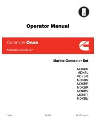 Operator Manual - Cummins Onan