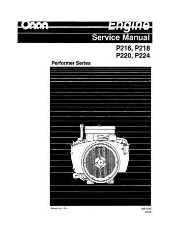 P216, P218 P220, P224 Performer Series - Cummins Onan