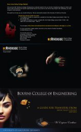 A GUIDE FOR TRANSFERS FROM - Bourns College of Engineering ...
