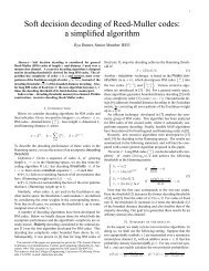 Soft decision decoding of Reed-Muller codes: a simplified algorithm