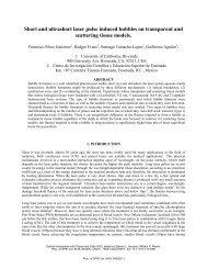 Short and ultrashort laser pulse induced bubbles on - University of ...