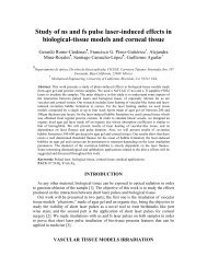 Study of ns and fs pulse laser-induced effects in biological-tissue ...